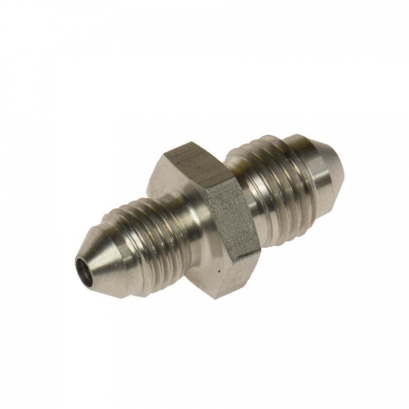 Stainless Steel 3AN Male Bulkhead Brake Hose Fittings Straight with S.S Nut