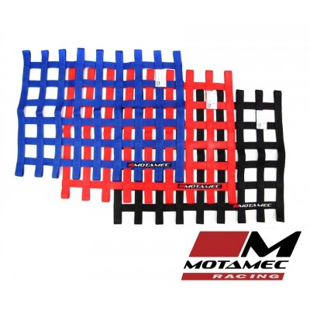 SFI Approved Motamec Racing Driver Window Net Angled Quarterlight BLACK