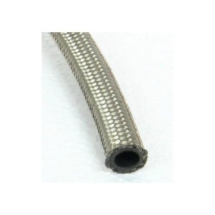 Motamec 8mm Stainless Steel Braided Fuel Hose Pipe For Push On Fittings x 1M