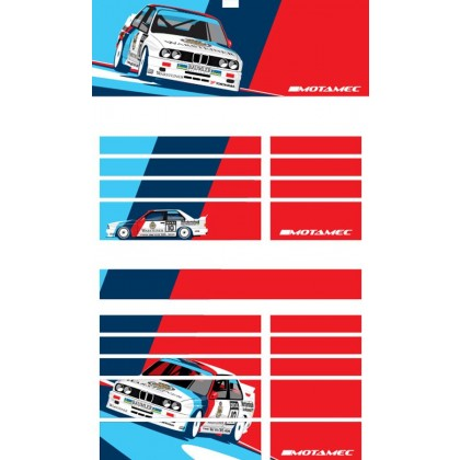 Motamec PRO94 Tool Chest BMW Racing E30 M3 DTM Magnetic Sticker Decal Set