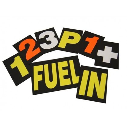 Motamec Motorsport Racing Pit Board Numbers Set Yellow