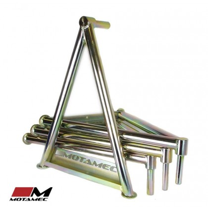 Motamec WRC Works Spec Car Sill Stands Set - 25mm Pin