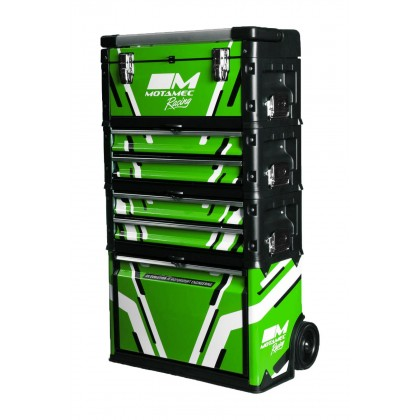 Motamec Racing GREEN Modular Tool Box Trolley Mobile Cart Cabinet Chest C41H