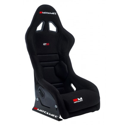 Motamec Racing GT03 Race Seat Fiberglass Shell Side Mount BLACK - NON FIA