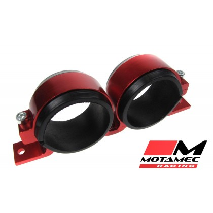Alloy Twin Fuel Pump Mount Cradle 60mm Injection Pump / Filter Mounting RED