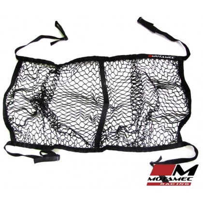 Motamec Racing Helmet Hammock Holder Net BLACK Mesh - Adjustable Rollcage straps