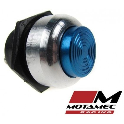Motamec Racing Alloy Push Button Switch Blue / Silver Surround