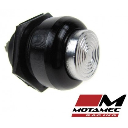 Motamec Racing Alloy Push Button Switch Silver / Black Surround