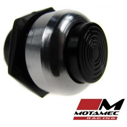 Motamec Racing Alloy  Push Button Switch Black / Silver Surround
