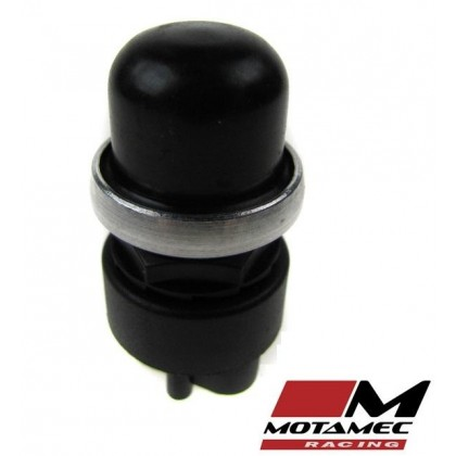 Motamec Racing Push Button Switch with Waterproof Cover Black