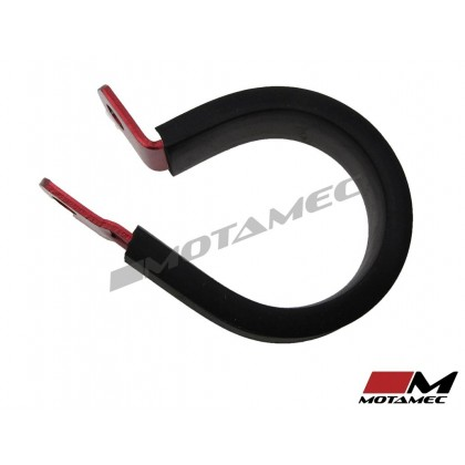 Motamec AN -18 AN18 28.6mm ID Cushioned P Clip Hose Clamp Rubber Aluminium