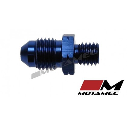 Motamec AN -4 AN4 JIC to M8x1.25 Metric Thread Alloy Fitting Adapter