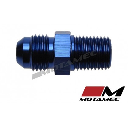 "Motamec AN -6 AN6 JIC To 1/4"" BSPT Thread 1/4x19 Alloy Fitting Adapter"