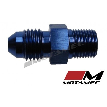 "Motamec AN -4 AN4 JIC to 1/8"" NPT Straight Aluminium Alloy Fitting Adapter"