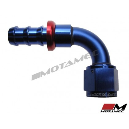 "Motamec -10 AN10 90 Degree 5/8""BSP Push On Hose End Alloy Fuel Oil Fitting"