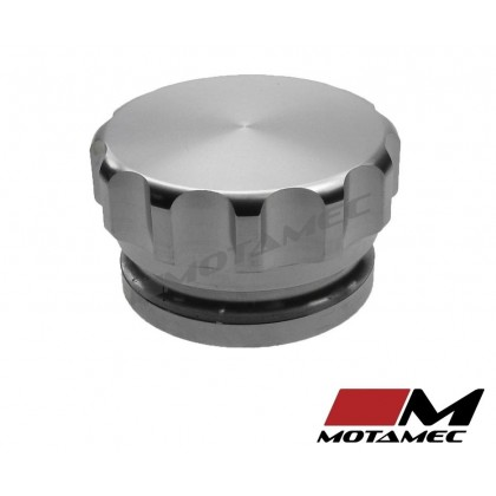 "Motamec Alloy Weld On Filler Neck and Cap 1-1/2"" ID Oil Fuel Water Tank Aluminiu"