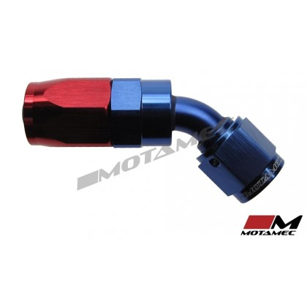 Motamec AN -6 AN6 JIC 45 Degree Swivel Hose End Alloy Fitting Fuel Oil