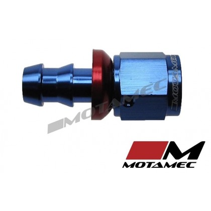 "Motamec -6 AN6 Straight 3/8""BSP Push On Hose End Alloy Fuel Oil Fitting"