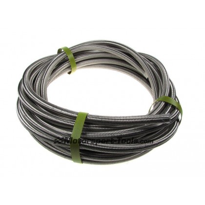 Motamec AN -4 AN4 JIC Stainless Steel Braided Hose Fuel Oil Coolant 1m Metre