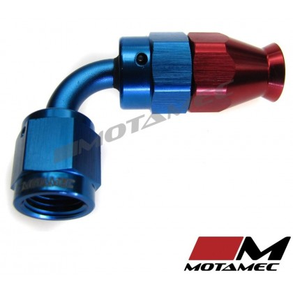 Motamec AN JIC -4 AN4 90 Degree Swivel Teflon PTFE Hose Fitting End Alloy Fuel O