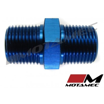 """Motamec 1/4"""" NPT Male to Male Fitting Adapter Alloy Oil Fuel"""