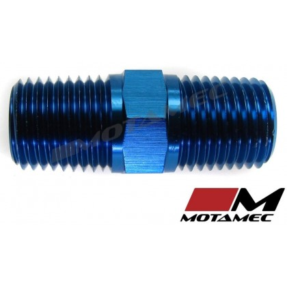 """Motamec 1/8"""" NPT Male to Male Fitting Adapter Alloy Oil Fuel"""