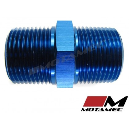 "Motamec 1/2"" NPT Male to Male Fitting Adapter Alloy Oil Fuel"