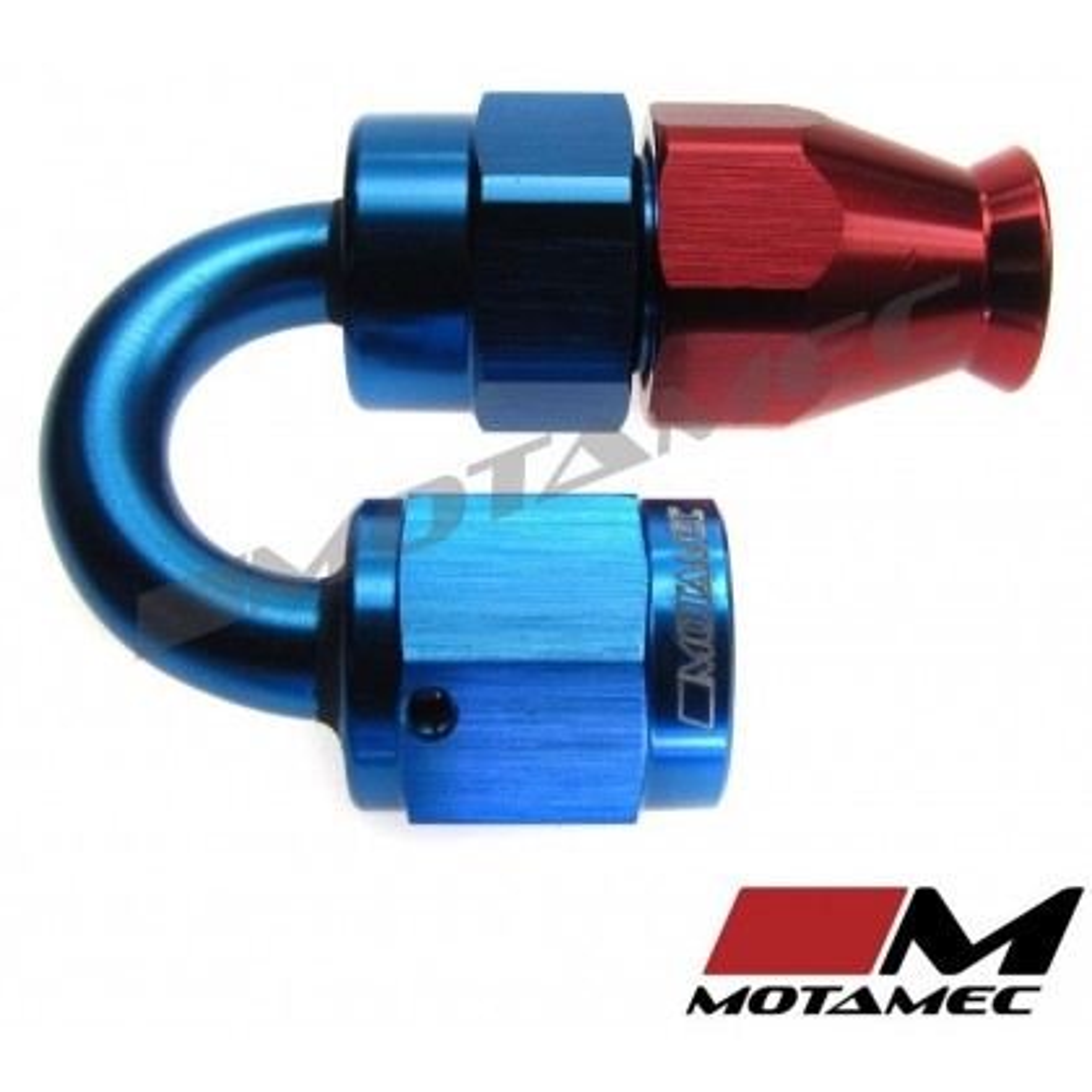 Motamec AN JIC -4 AN4 180 Degree Swivel Teflon PTFE Hose Fitting End Alloy Fuel