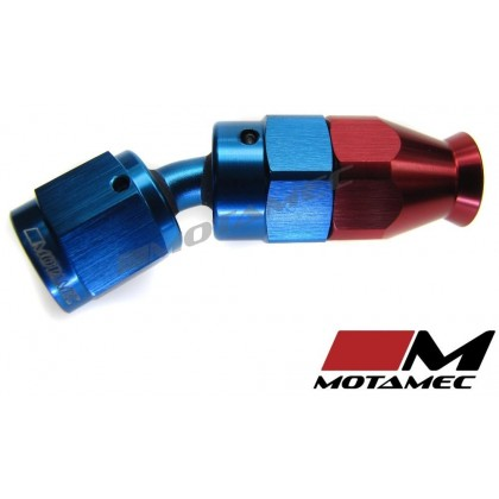 Motamec AN JIC -4 AN4 30 Degree Swivel Teflon PTFE Hose Fitting End Alloy Fuel O