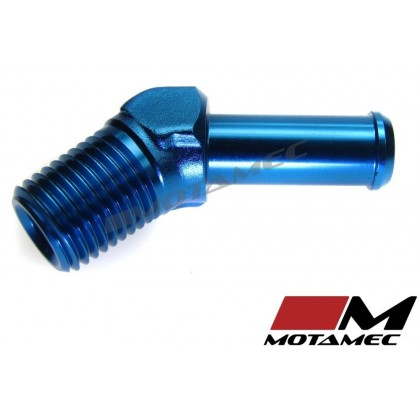 Motamec 1/4 NPT Male to AN6 3/8in BSP Push On 45 Degree Adapter Alloy Fitting