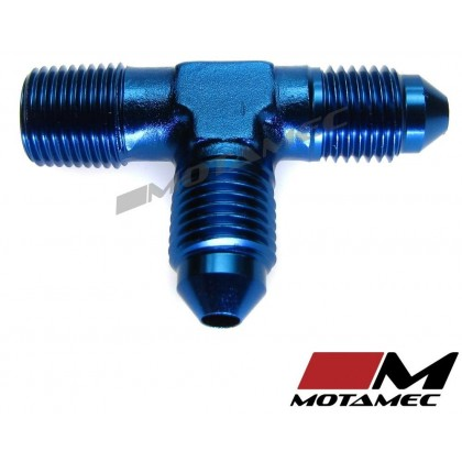 "Motamec AN JIC -3 AN3 To 1/8"" NPT Flare Tee On Run Alloy Adapter Fitting"