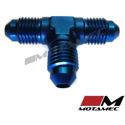 Motamec AN JIC -4 AN4 Flare Union Tee T-Piece Fitting Adapter Alloy Fitting