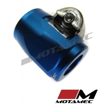 Motamec 12mm AN4 Fuel Hose Clamp End Finisher Hex Head Jubilee Alloy BLUE