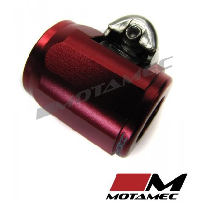 Motamec 14mm AN5 Fuel Hose Clamp End Finisher Hex Head Jubilee Alloy RED