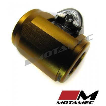 Motamec 14mm AN5 Fuel Hose Clamp End Finisher Hex Head Jubilee Alloy GOLD