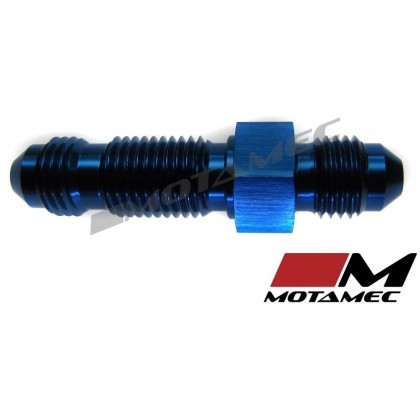 Motamec AN JIC -4 AN4 Flare Union Bulkhead Straight Alloy Fitting Adapter