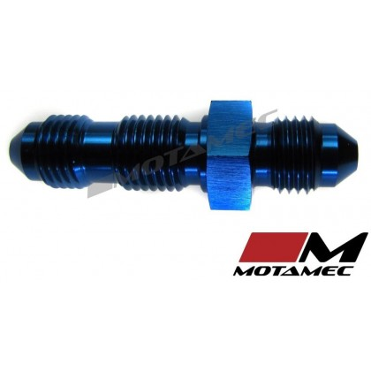 Motamec AN JIC -3 AN3 Flare Union Bulkhead Straight Alloy Fitting Adapter