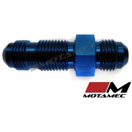 Motamec AN JIC -6 AN6 Flare Union Bulkhead Straight Alloy Fitting Adapter