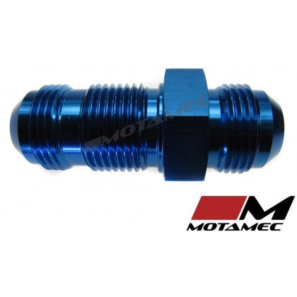 Motamec AN JIC -12 AN12 Flare Union Bulkhead Straight Alloy Fitting Adapter