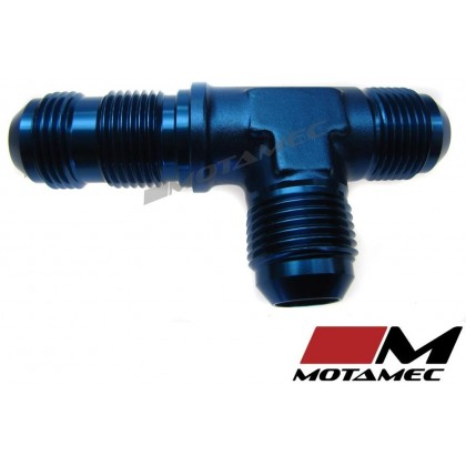 Motamec AN JIC -10 AN10 Bulkhead Tee On Run T-Piece Alloy Fitting Adapter