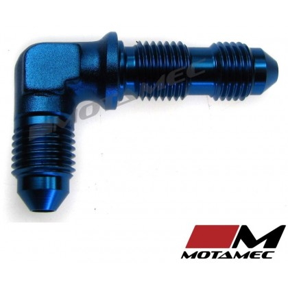 Motamec AN JIC -3 AN3 Flare Union Bulkhead 90 Degree Alloy Fitting Adapter
