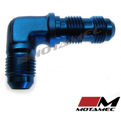 Motamec AN JIC -6 AN6 Flare Union Bulkhead 90 Degree Alloy Fitting Adapter