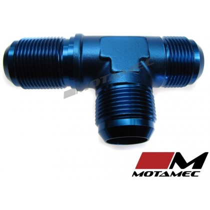 Motamec AN JIC -16 AN16 Bulkhead Tee On Run T-Piece Alloy Fitting Adapter