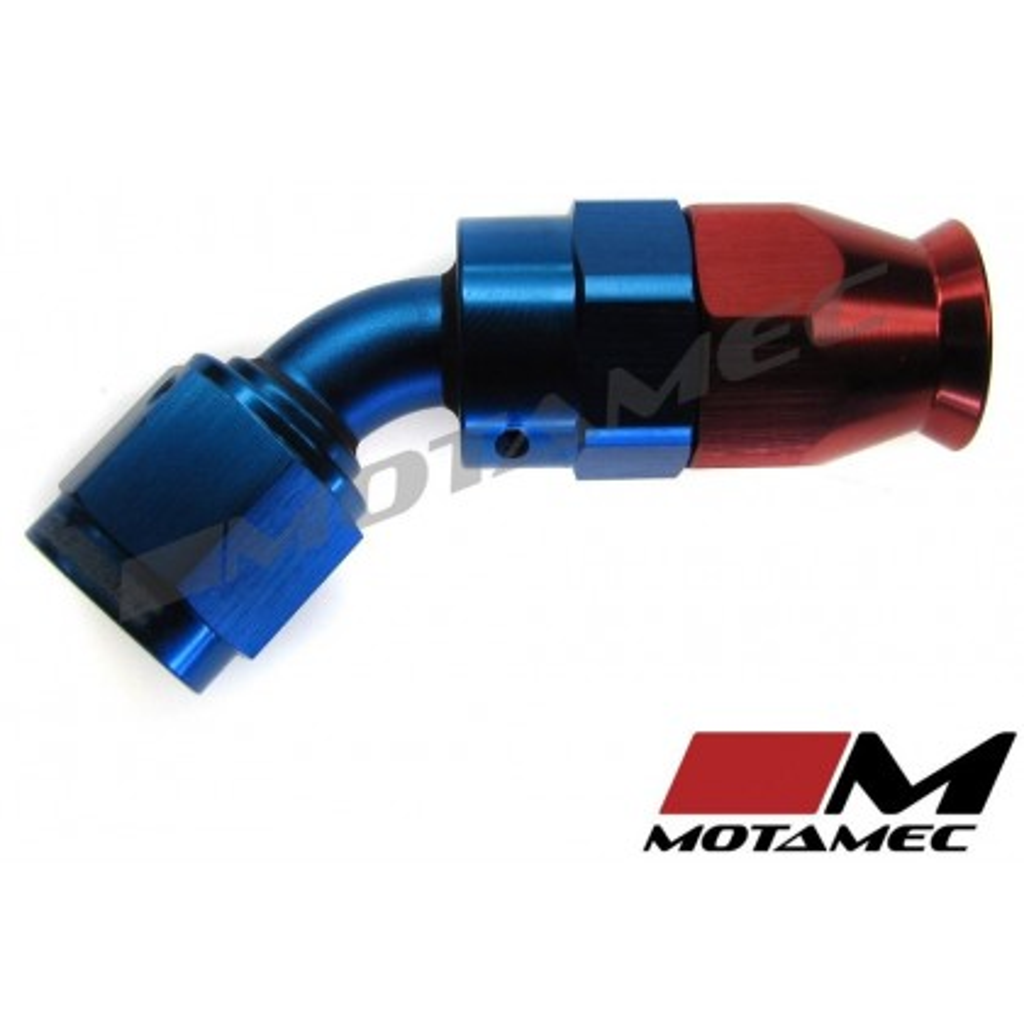 Motamec AN JIC -6 AN6 45 Degree Swivel Teflon PTFE Hose Fitting End Alloy Fuel O