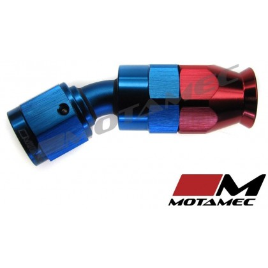Motamec AN JIC -6 AN6 30 Degree Swivel Teflon PTFE Hose Fitting End Alloy Fuel O