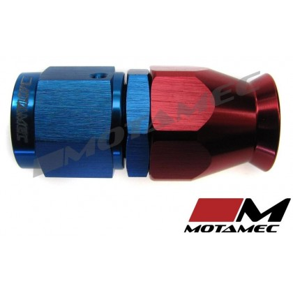 Motamec AN JIC -6 AN6 Straight Teflon PTFE Hose Fitting End Alloy Fuel Oil Aeroq