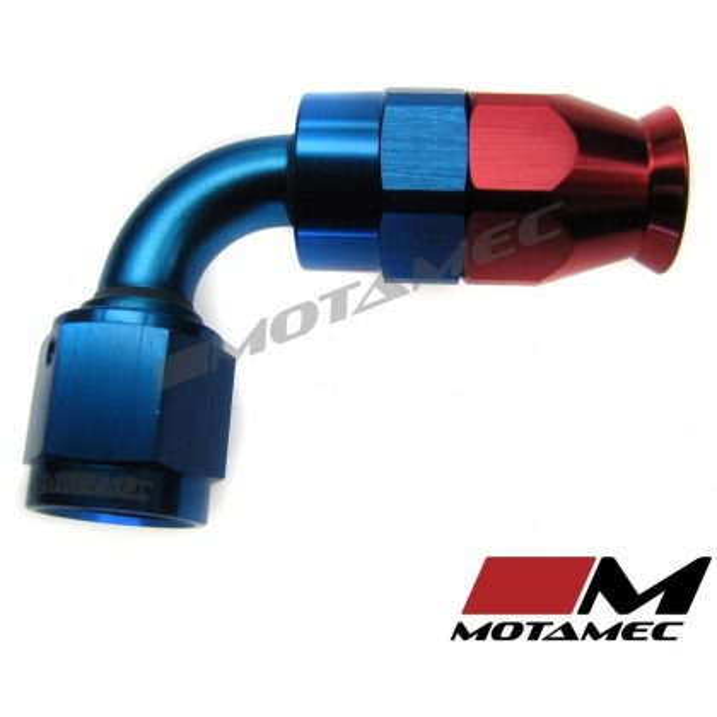 Motamec AN JIC -6 AN6 90 Degree Swivel Teflon PTFE Hose Fitting End Alloy Fuel O
