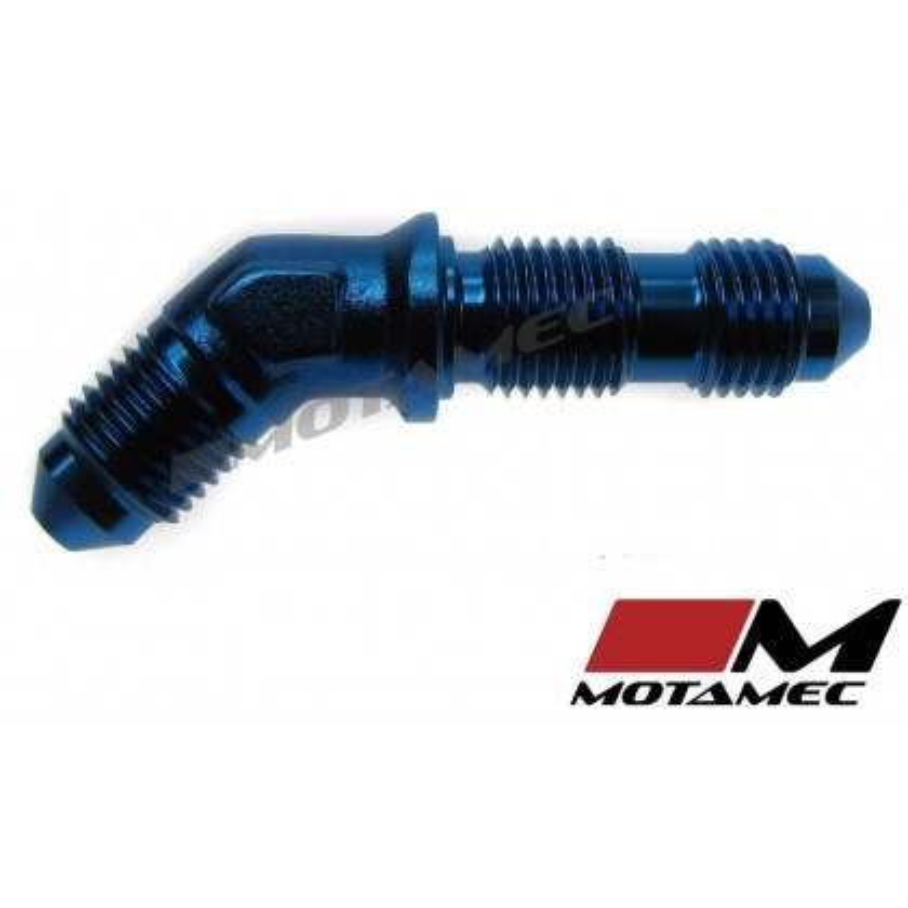 Motamec AN JIC -3 AN3 Flare Union Bulkhead 45 Degree Alloy Fitting Adapter