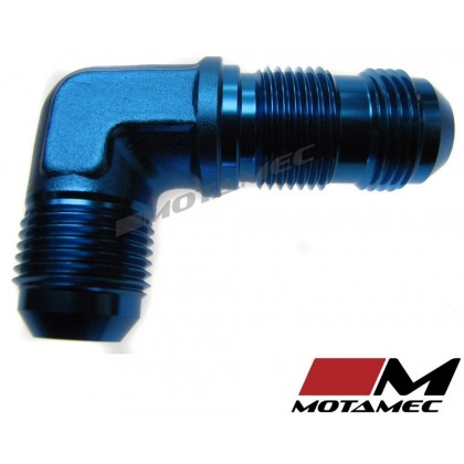 Motamec AN JIC -10 AN10 Flare Union Bulkhead 90 Degree Alloy Fitting Adapter