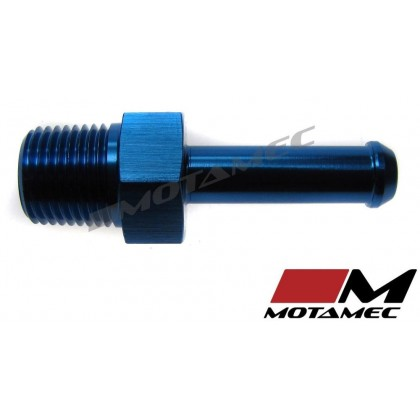 Motamec 1/8 NPT Male to AN4 1/4in BSP Push On Straight Adapter Alloy Fitting